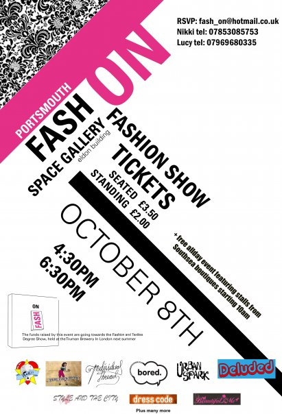 Flyer for Fash-On event